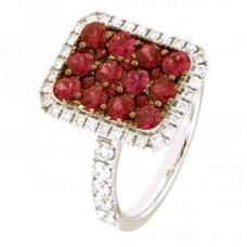 Anello con diamanti e pietre naturali - 100781R01W