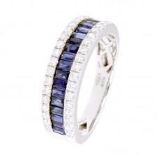 Anello con diamanti e pietre naturali -  12502R02W