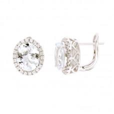 Orecchini con diamanti e pietre naturali - 326366E02ACM