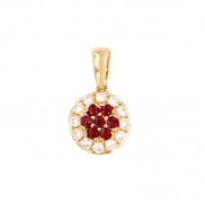 Pendente con diamanti e pietre naturali - BS27768P-34(R)