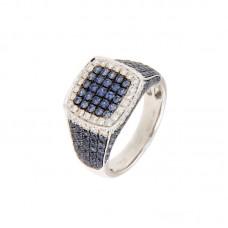 Anello con diamanti e pietre naturali - BS30299RA