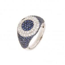 Anello con diamanti e pietre naturali - BS30300RA