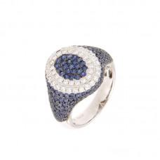 Anello con diamanti e pietre naturali - BS30301RA
