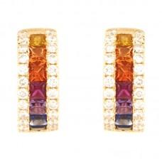 Orecchino con diamanti e pietre naturali - E00445RB11