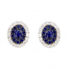 Orecchini con diamanti e pietre naturali - E00668DB035X3