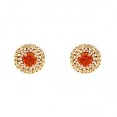 Orecchini con diamanti e pietre naturali - E42248-2