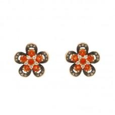 Orecchini con diamanti e pietre naturali - E42253-1