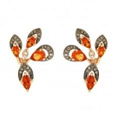 Orecchini con diamanti e pietre naturali - E42312-1