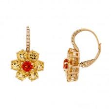 Orecchini con diamanti e pietre naturali - EY10665A-3007