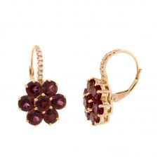 Orecchini con diamanti e pietre naturali - EY10665A-3008