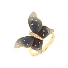 Anello con diamanti - G1151R(D)-BLC