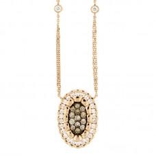 Girocollo con diamanti e pietre naturali - N00218GA02