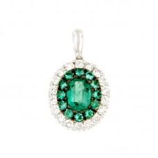 Pendente con diamanti e pietre naturali -  P00295DB057x5