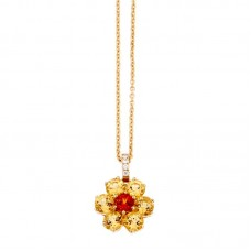 Girocollo con diamanti e pietre naturali - P31657A-3024