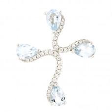 Pendente con diamanti e pietre naturali - P43380-4