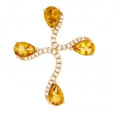 Pendente con diamanti e pietre naturali - P43380-7