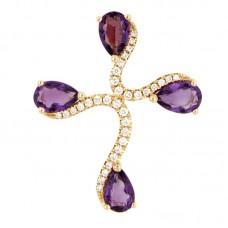 Pendente con diamanti e pietre naturali - P43380-8
