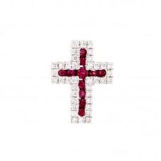 Pendente con diamanti e pietre colorate - PFA0897RU-03
