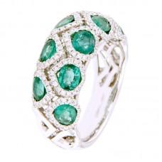 Anello con diamanti  e pietre naturali - R02501WB05