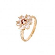 Anello con diamanti e pietre naturali - R31657A-3012
