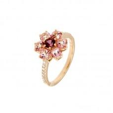 Anello con diamanti e pietre naturali - R31657A-3013