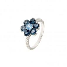 Anello con diamanti e pietre naturali - R31657A-3015