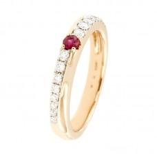 Anello con diamanti e pietre naturali -  RBA2778RU-01