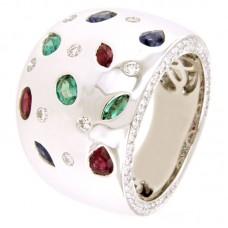 Anello con diamanti e pietre natural i - RFB2181SM-02