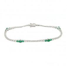 bracciale con diamanti e pietre naturali - AF01258EM-01