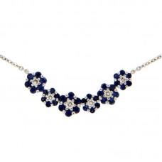 Girocollo con diamanti e pietre naturali - N39603-18