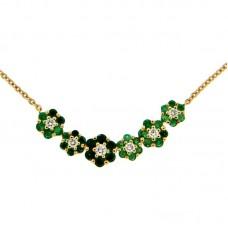 girocollo con diamanti e pietre naturali - N39603-24
