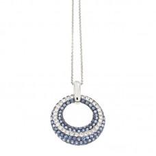 Girocollo con diamanti e pietre naturali - P33288B