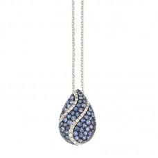 Girocollo con diamanti e pietre naturali - P35487A.2