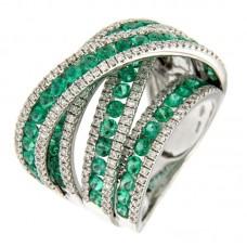 anello con diamanti e pietre naturali - R00058WB05