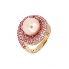 anello con diamanti e pietre naturali - R31619B-1