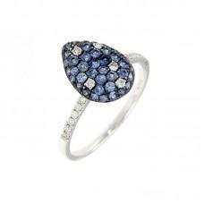 Anello con diamanti e pietre naturali - R34789A.2