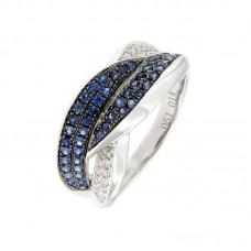Anello con diamanti e pietre naturali - R35303B-2